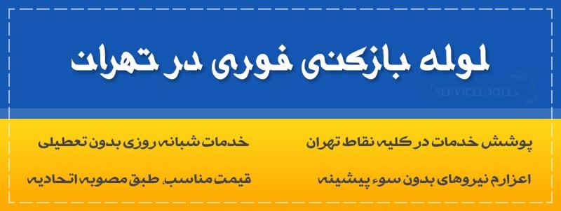 تصویر از لوله بازکنی فوری در تهران