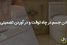 تصویر از افتادن جسم در چاه توالت و درآوردن تضمینی آن